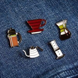 Jewelry - Enamel Coffee Pins Set of 5
